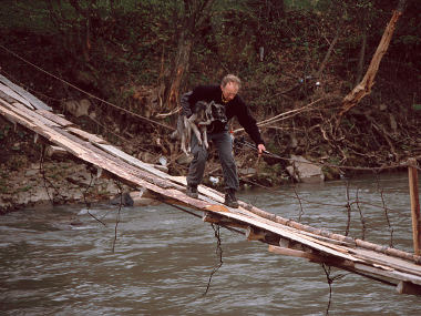 Carpathian river crossing